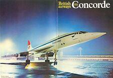 Opuscolo BAC-Aérospatiale Concorde, British Airways, circa 1974-75, molto raro!