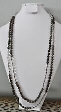 Chan Luu Clear Brown Green Semi Precious Stones Designer Necklace