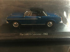 """DIE CAST """" FIAT 1600 S CABRIOLET - 1962 """" + TECA RIGIDA BOX 2 SCALA 1/43"""