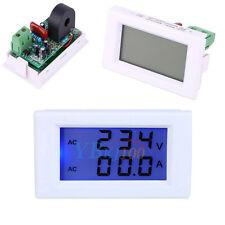 AC 100-300V LCD Digital 0-50A Volt Watt Power Ammeter Voltmeter Amp Panel Meter