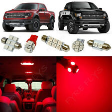 7x Red LED lights interior package kit for 2010-2014 Ford Raptor or F-150 FS2R