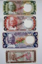 SPECIMEN SET SIERRA LEONE 1978