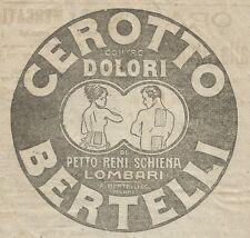 W3073 Cerotto BERTELLI - Pubblicità 1916 - Advertising