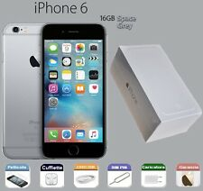 APPLE iPhone 6 16gb GRADO A/B SCATOLA GARA RIGENERATO SPACE GREY GRIGIO SIDERALE