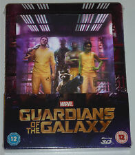 GUARDIANS OF THE GALAXY 3D & 2D BLU-RAY STEELBOOK NEU & OVP SOLD OUT LENTICULAR