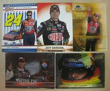 JEFF GORDON 5 CARD LOT 1993-2009 PRESS PASS VIP/ECLIPSE/WHEELS/ACTION PACKED