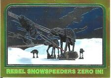 1999 Topps Star Wars Chrome Archives #35 Rebel Snowspeeders Zero In!   AT-AT