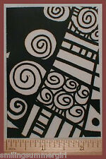 ATC Unmounted Rubber Stamp Deep Etched Design Great for Paper Clay PMC Art #6