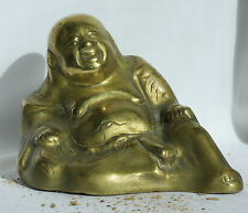 Vintage Chinese Brass Buddha Early 20th Century