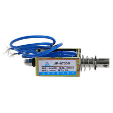 DC 24V 1A Push Type Open Frame Linear Solenoid Electromagnet Suction 10mm 5N