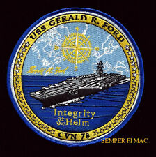 USS GERALD R FORD CV CVN-78 PATCH US NAVY VETERAN PIN UP GIFT PRESIDENT USA WOW
