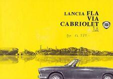 LANCIA FLAVIA CABRIOLET Cabrio Prospekt Sheet Original 1963 ++++++++++++++++++++