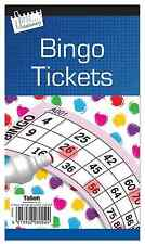 Jumbo Bingo Book Pad 480 Games Coded Tickets 6 to View Various Colours-8002