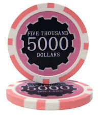 100 Pink $5000 Eclipse 14g Casino Quality Clay Poker Chips New