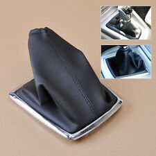 Black PU Leather Manual Gear Shift Boot Gaiter Cover For 2005-2012 Ford Focus
