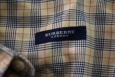 BURBERRY LONDON Mens Houndstooth Nova Check Oxford Long S Cotton Shirt XL $350