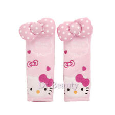 New Cute Hello Kitty Car Accessory Seat Belt Covers Soft Pads 2pcs Set Gift 17cm