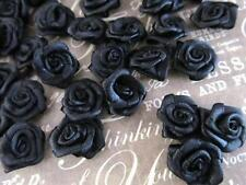 100 Satin Ribbon Rose Flower 16mm Applique/Trim/Craft/Sewing/Bow F84-Pick Color