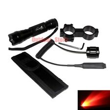 UltraFire CREE Red light LED 1Mode Tactical 501B Flashlight + Mount Holster Set