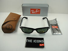 RAY-BAN ORIGINAL WAYFARER SUNGLASSES RB2140 901 BLACK/G-15 XLT LENS 47MM NEW!