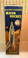 Yonezawa Space Ship Moon Rocket Toy Battery Operated with Lights & Box - Japan