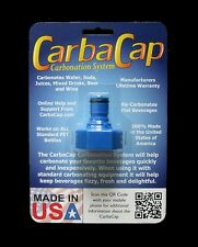 CARBACAP CARBONATION CAP C02 COUPLING TO CARBONATE SODA BEER FRUIT JUICE WATER