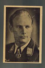 Mint WW 2 Germany Werner baumbach Luftwaffe Bomber Pilot RPPC Hoffman Postcard