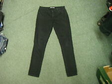 "Dorothy Perkins Skinny Jeans Size 14R Leg 31"" Black Faded Ladies Jeans"