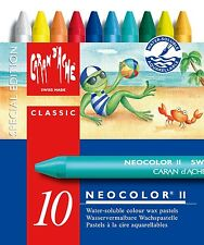 CARAN D'ACHE NEOCOLOR II TIN of 10 water soluble wax pastels - Summer Special Ed