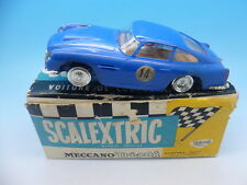 Scalextric francese E3 ASTON MARTIN GT in blu, C68 BOXED
