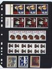 50 Stock Pages 5 S ( 5-Rows) for Medium & Strip Stamps, (Black sheets)...