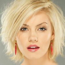 Noble Side Bang Synthetic Shaggy Short Light Blonde Mixed Capless Women Wig Hair