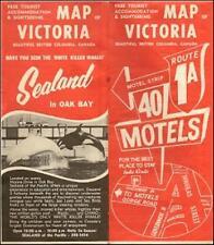 1972  Motel Directory Road Map VICTORIA Vancouver Island British Columbia Canada