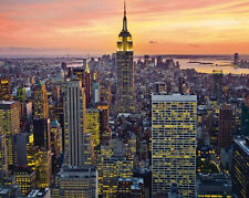 EMPIRE STATE BUILDING - NEW YORK CITY POSTER - 16x20 CITYSCAPE SKYLINE NYC 7160