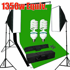 Photography Studio Continuous Softbox Lighting Kit with Black/White/Green Screen