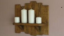 Lámpara de vela de madera rústica Reciclado Pallet/Soporte De Luz De Té