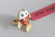 R168 Betsey Johnson Crystal Deep Sea Summer Beach Fish Ring US