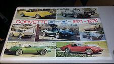 1971-1974 AUTOMOBILE QUARTERLY CORVETTE STINGRAY #7 POSTER COPYRIGHT 1981 RARE