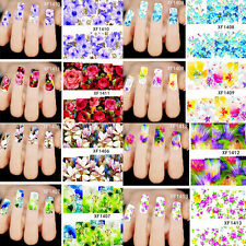 50pcs Mixed Flowers Nail Art Decals Water Transfer Stickers Decoration