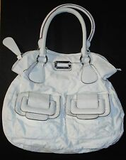 GUESS - DEVOTION - SATCHEL - PURSE – WHITE - X-LARGE – NEEDS MINOR REPAIR - G C