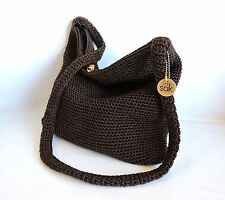 Brown Shoulder Bag Classic Crochet The Sak Very Nice Condition  (S-19