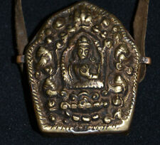Old Tibetan Buddhism Amulet Pendant Buddha armored Whit Blessings protection.