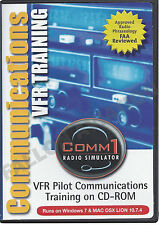 Comm1 VFR Radio Simulator - VFR Pilot Communications Training on CD-ROM