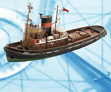 """Model Boat Plans 1/48 Scale 24 1/2"""" Radio Control Tug Ionia Plans & Article"""
