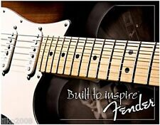FENDER GUITARS USA,STRATOCASTER METAL WALL SIGN 40x30 cm , BUILT TO INSPIRE