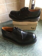 Vtg! 80's Sz7 England Dr.Martens Air Cushion 200 Joules Safety Steel Toe Eu41