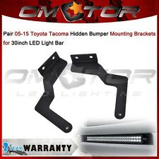 "For 05-15 TOYOTA Tacoma Hidden Bumper Mounting Brackets fit 30"" LED Light Bar EM"