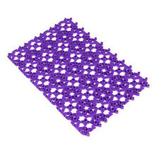 Plastic Non-slip Shower Bathroom Bath Mosaic Mat Massage EW S