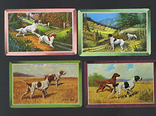 Playing Swap Cards 4  VINT GENUINE HUNTING  DOGS   IN THE COUNTRY SIDE #7