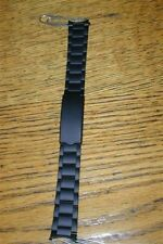 New Old Stock Black PVD LeJour Oyster Watch Band-18MM Curved End-Stainless Buckl